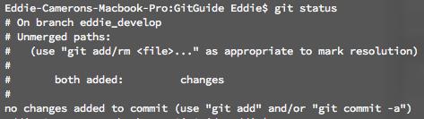 command line merge status