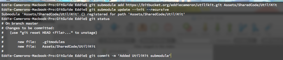 command line add submodule